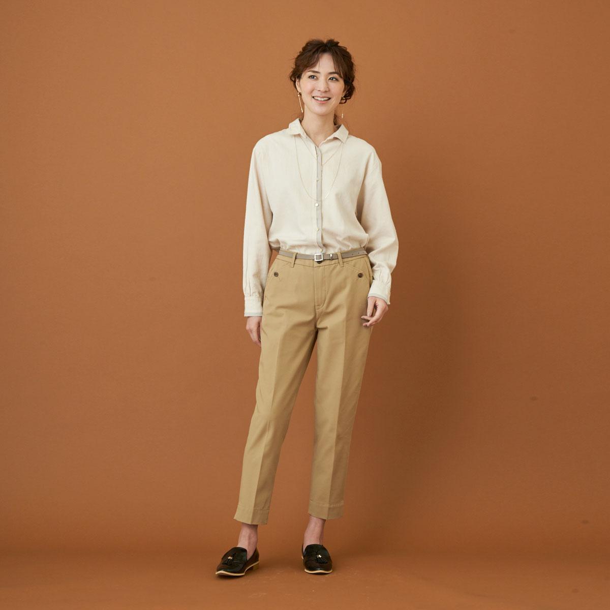 【SALE】Mrs.Jeana GOLD リラックスシガレットパンツ GM3786