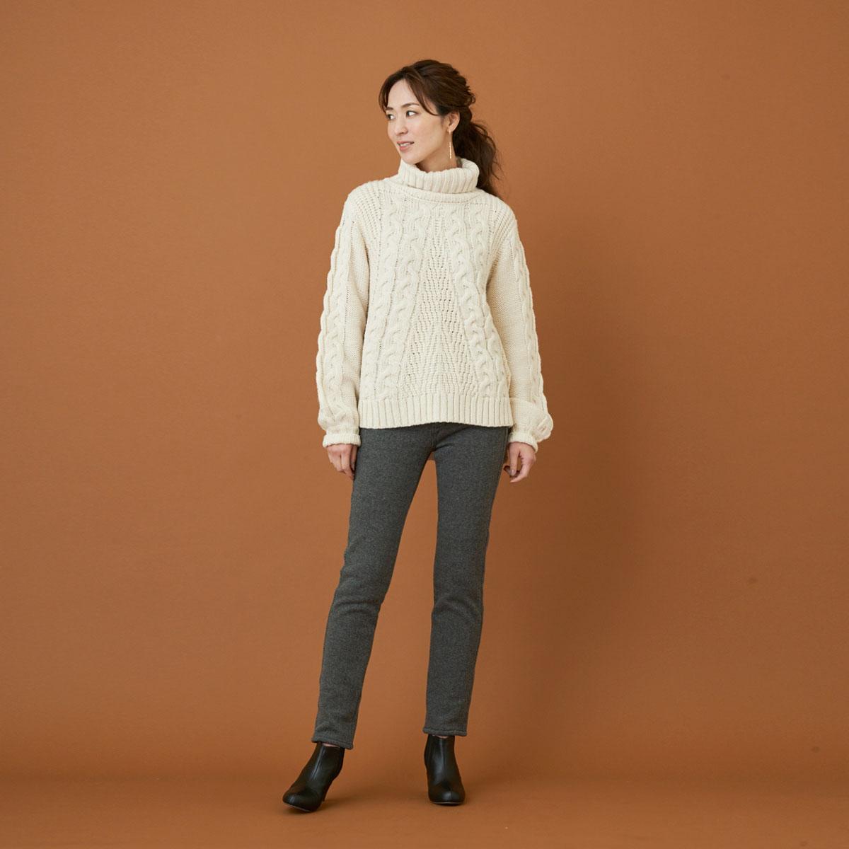 【SALE】Mrs.Jeana GOLD ■暖■ 裏ボアシャギータイトスキニー GM3812