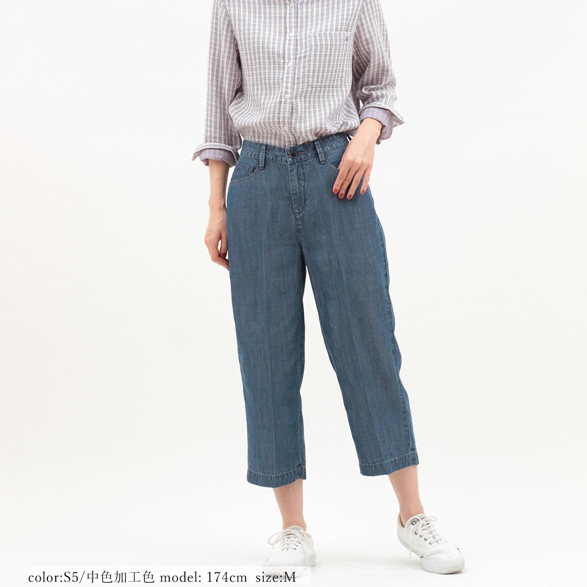 \全品ポイント5倍/Mrs.Jeana GOLD ■涼■クロップドワイド GM3946