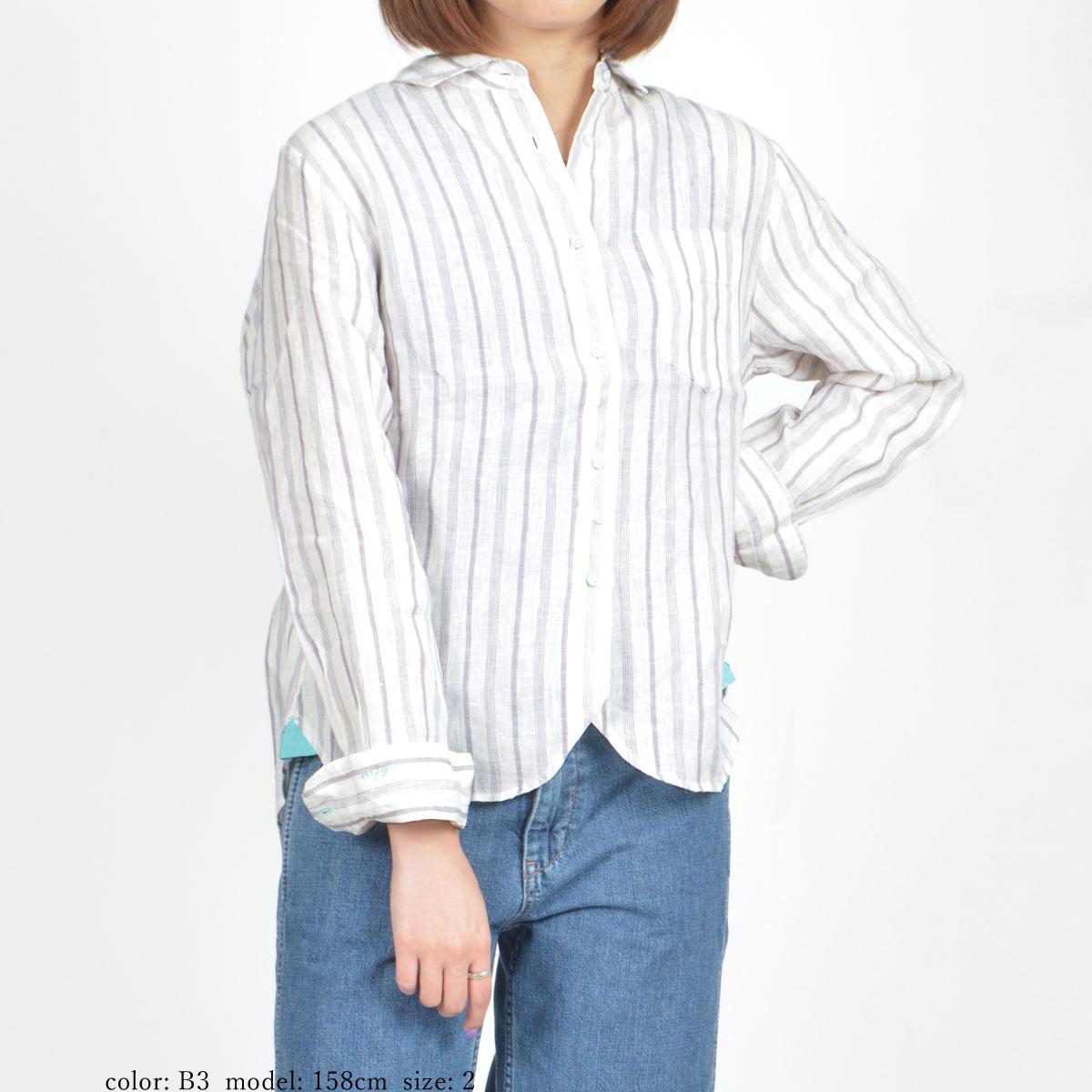 \全品ポイント5倍/【SALE】M・J・G フレンチリネン長袖シャツ GMT658