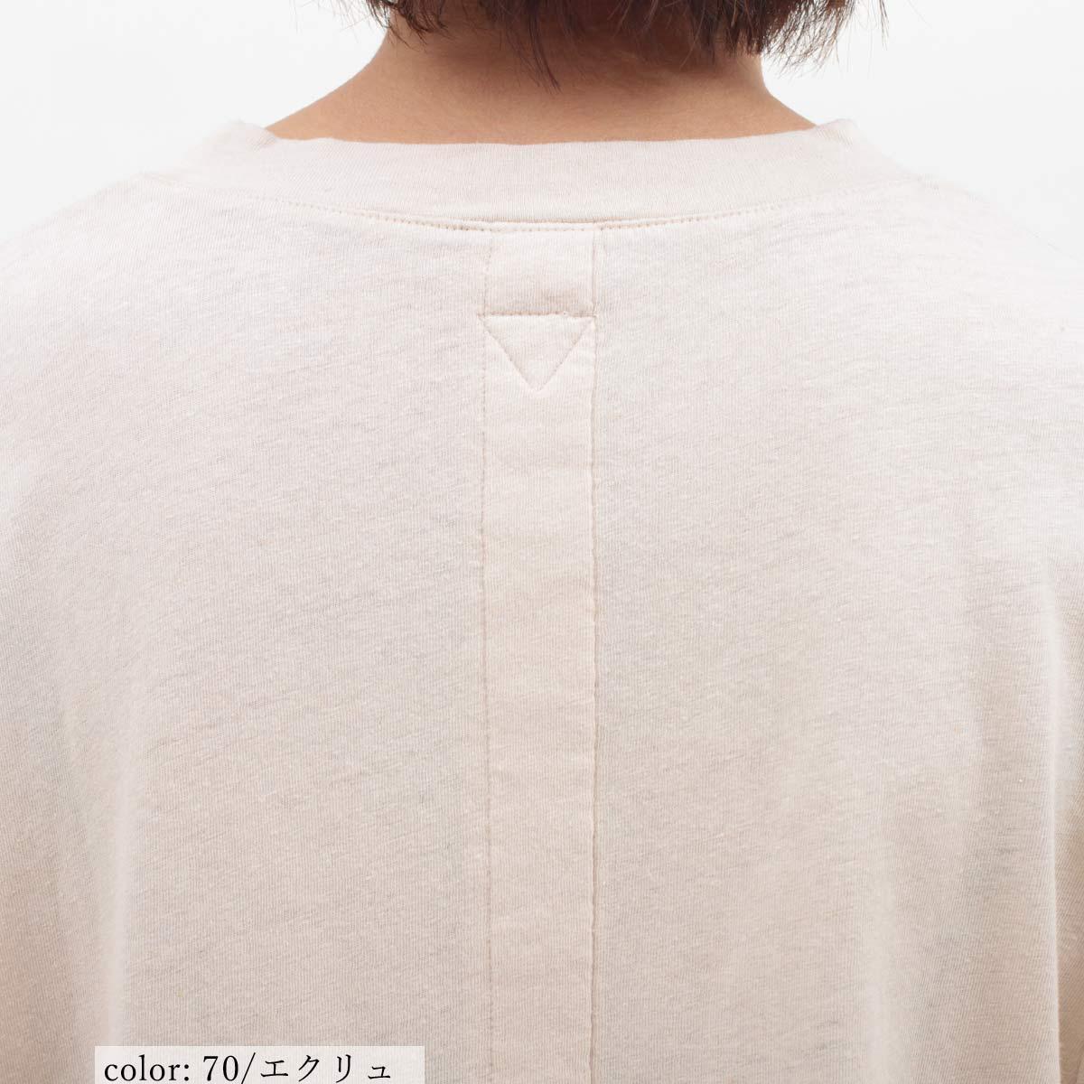 \返品送料無料/M・J・G リネン混8分袖プルオーバー GMT266