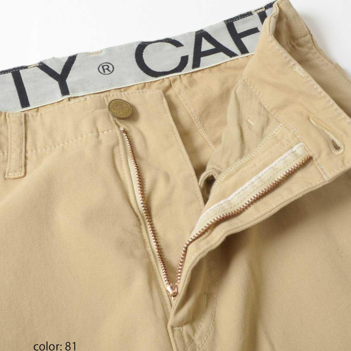 \返品送料無料/Cafetty CFロゴワイドパンツ CF0351