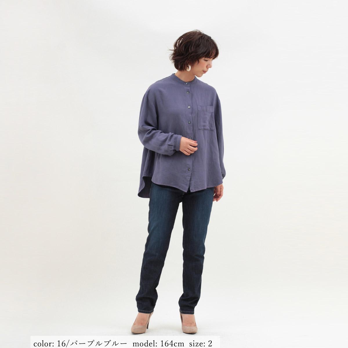 M・J・G リネンバンドカラーシャツ GMT689
