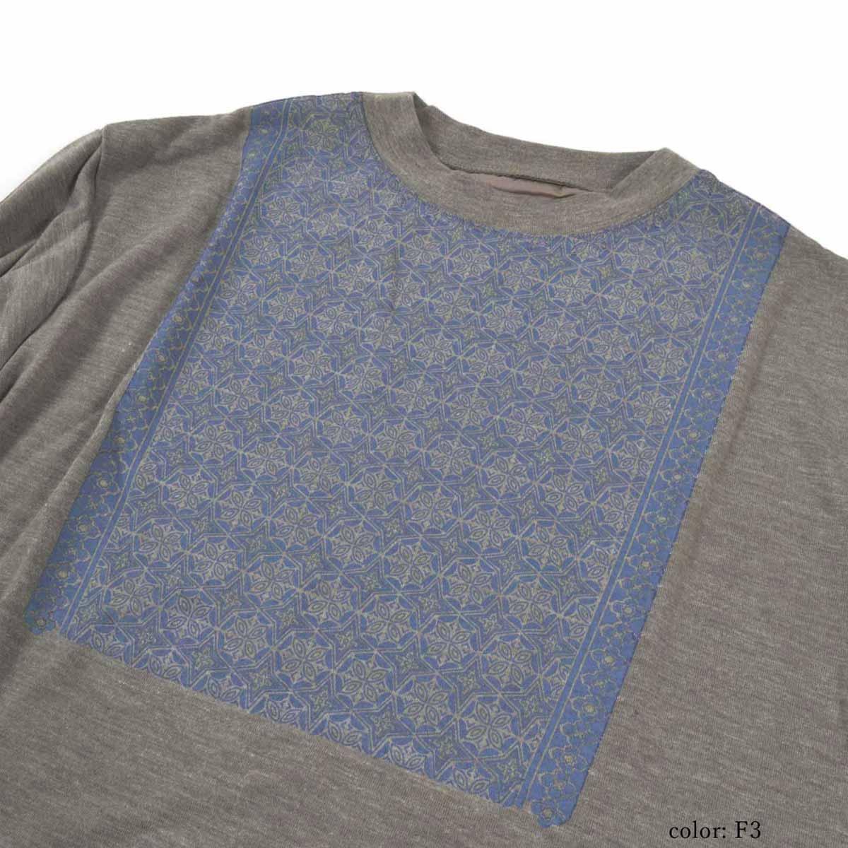 【SALE】M・J・G ロゴプリントウールライクロングスリーブTシャツ GMT226