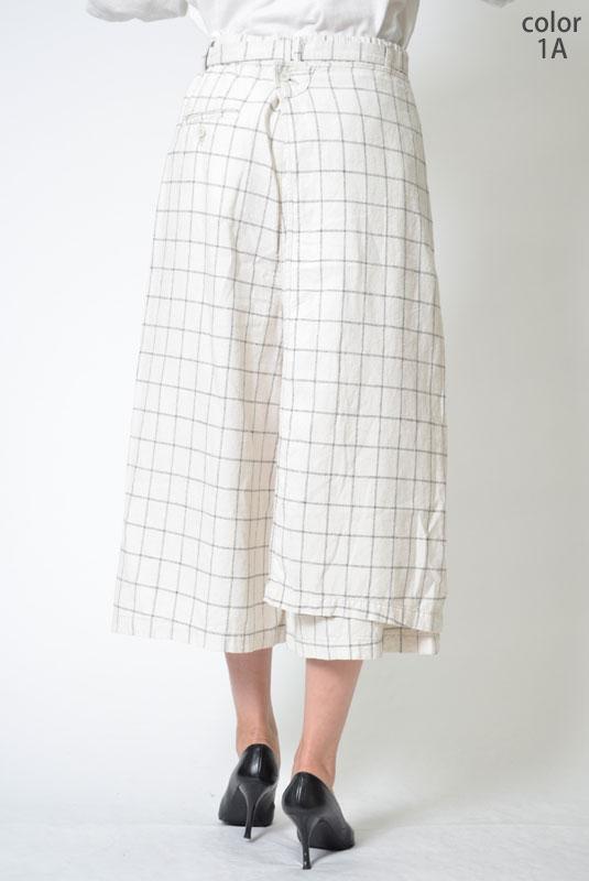 \全品ポイント5倍/【SALE】M・J・G リネン素材 スカーチョ GMP011