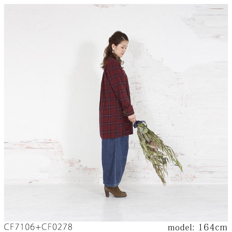 【SALE】Cafetty ネルチェックチュニック CF7106