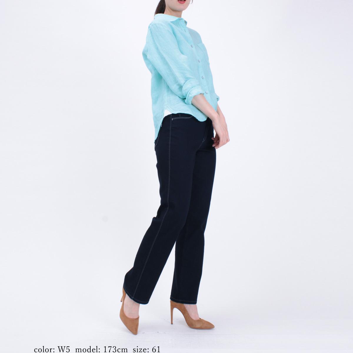 【SALE】Mrs.Jeana GOLD ■涼■ クールストレッチデニム サマーディナーストレート GM3852