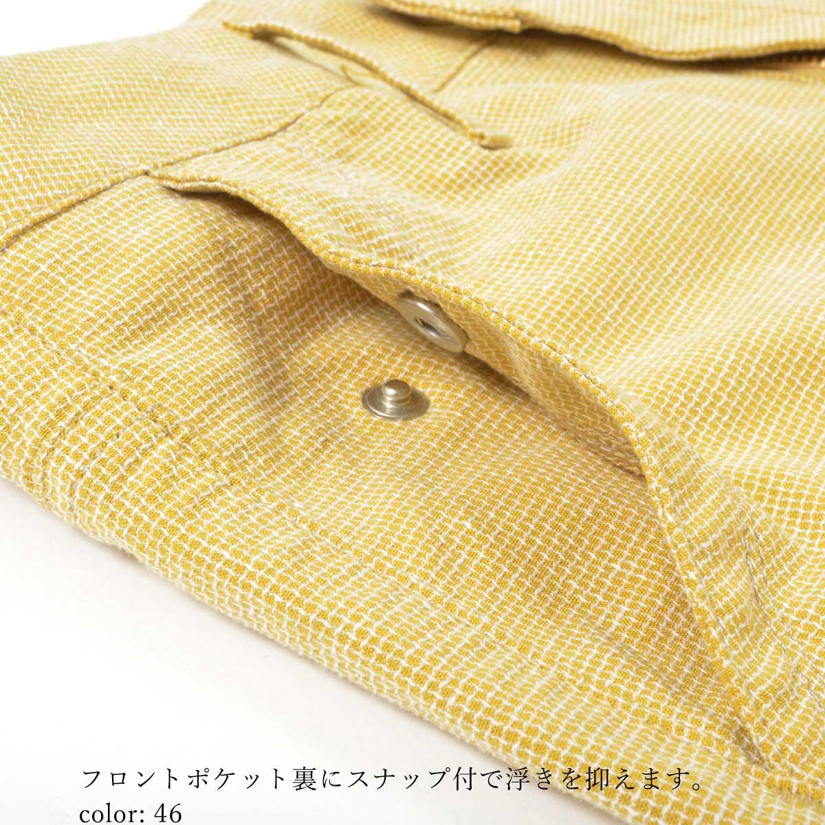【SALE】Mrs.Jeana GOLD ■涼■ ドビーストレッチ サマーシガレットパンツ GM3846