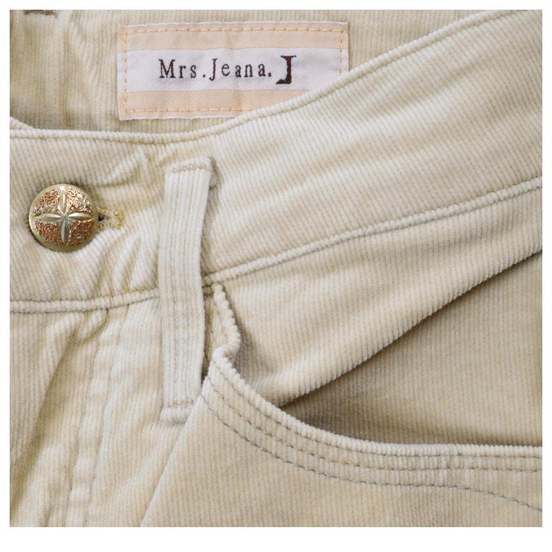 【SALE】Mrs.Jeana ■暖■ コーデュロイブーツカット MJ4173