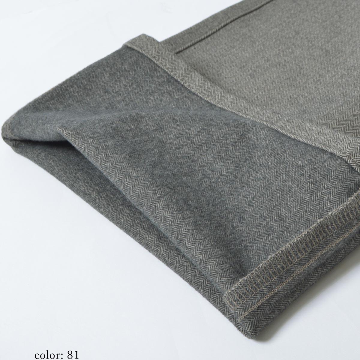 【SALE】Mrs.Jeana ■暖■ 裏起毛ヘリンボン柄スレンダー MJ4163