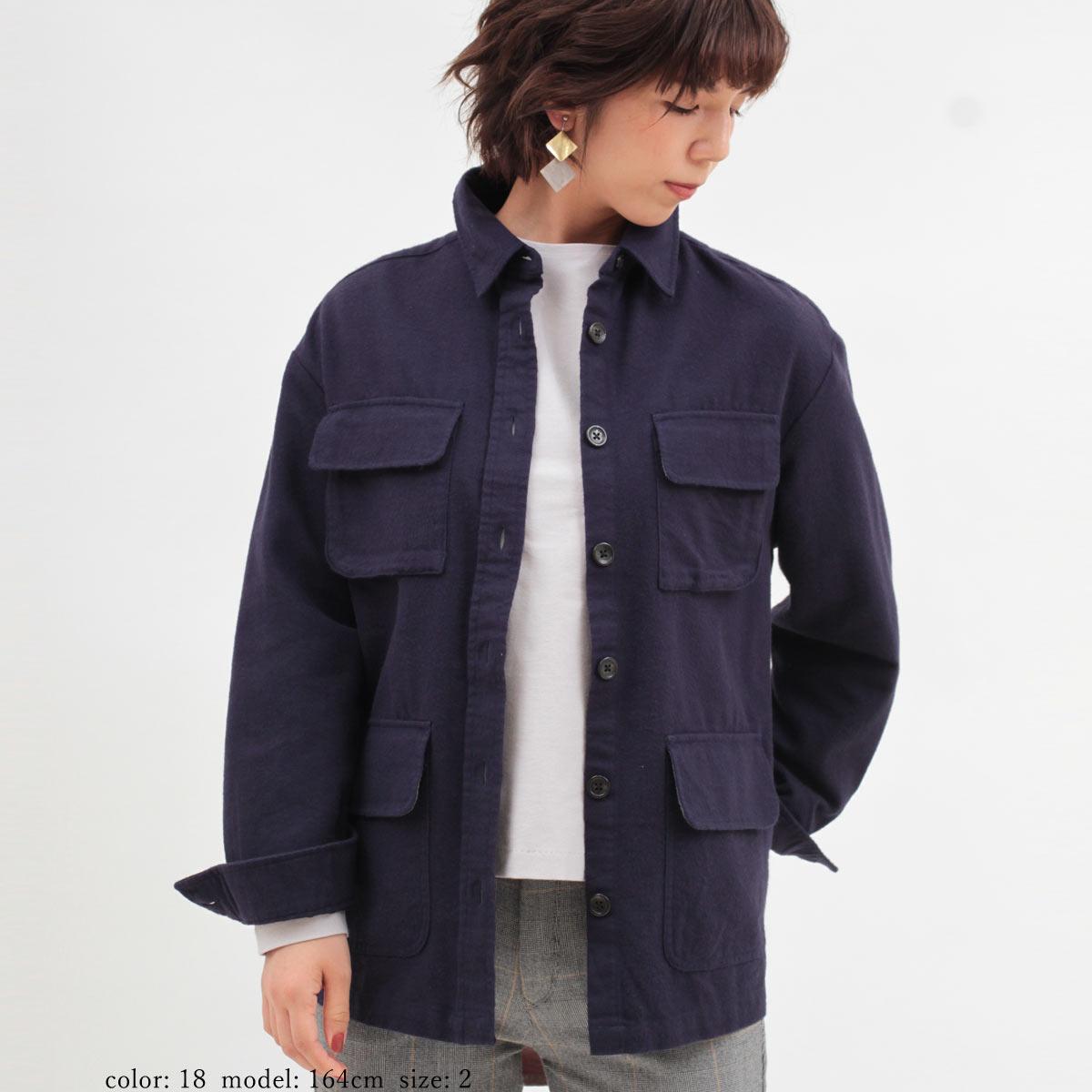 M・J・G■暖■ ネルオーバーシャツ GMT684
