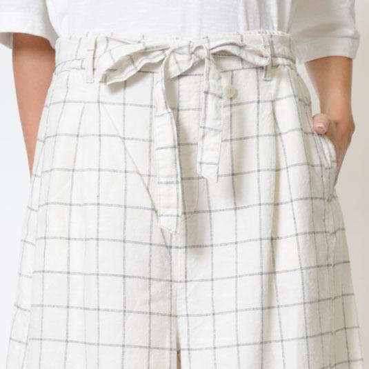 【SALE】M・J・G リネン素材 スカーチョ GMP011