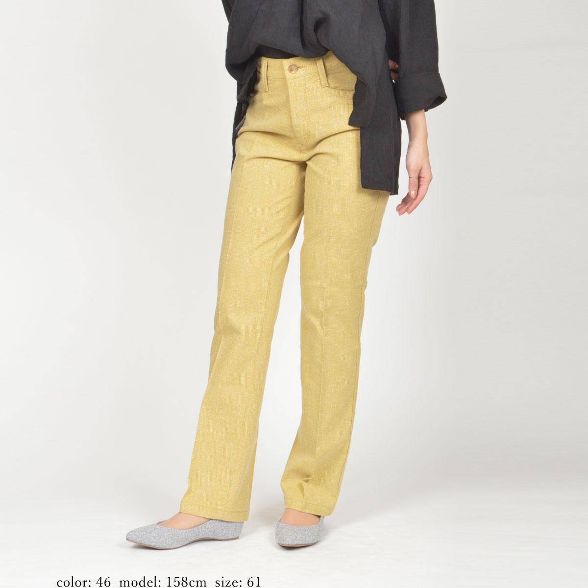 【SALE】Mrs.Jeana GOLD ■涼■ ドビーストレッチ サマーディナーストレート GM3842