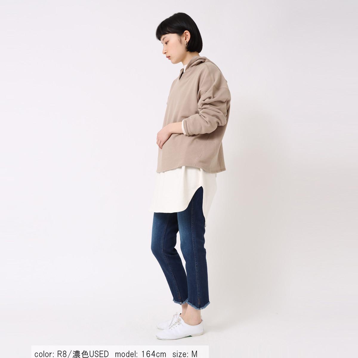 10倍ポイント【9/1入荷】フレイドヘムスキニー CF0409