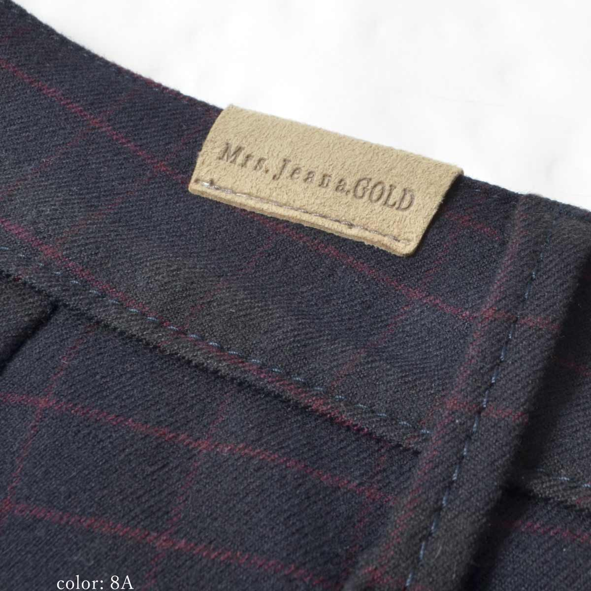 【NEW SALE】Mrs.Jeana GOLD クロップドストレート GM3326