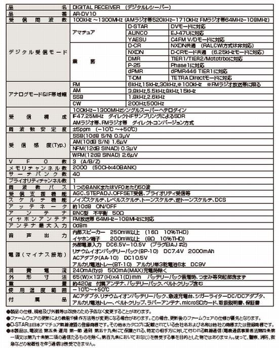 【送料無料】(沖縄・離島は除く)!AR-DV10 & RH789
