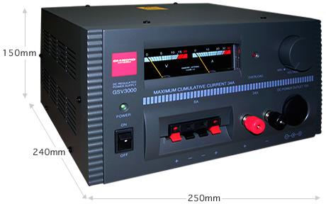 送料無料(沖縄:離島などは除く) GSV3000(GSV-3000) AC100V→DC13.8V 30A 直流安定化電源,第一電波工業株式会社