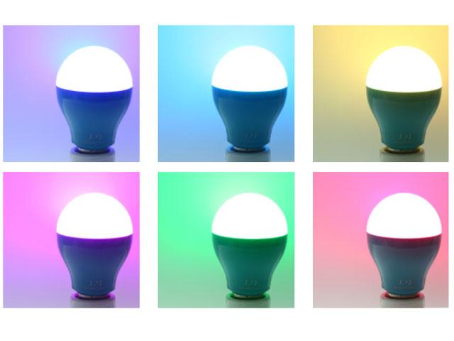 [アウトレット/開封済]Q-home BB01 NR(ネイビーレッド)スマホで操作可・スマートLED電球 2個セット