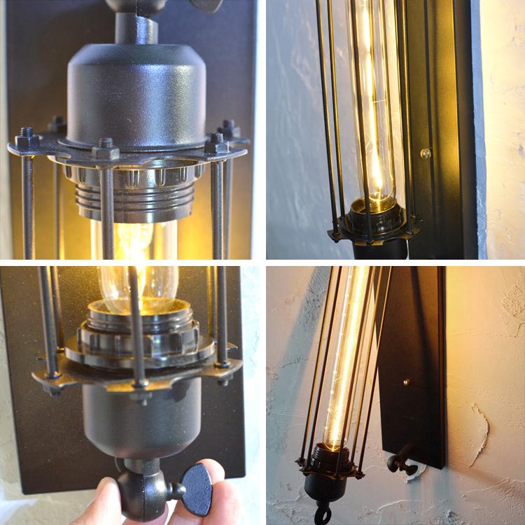 ブラケットライト・壁掛け照明・カフェ風クラシック調LED照明・スパイラルバージョン(INAZUMA)|WL003-INAZUMA|でんらい