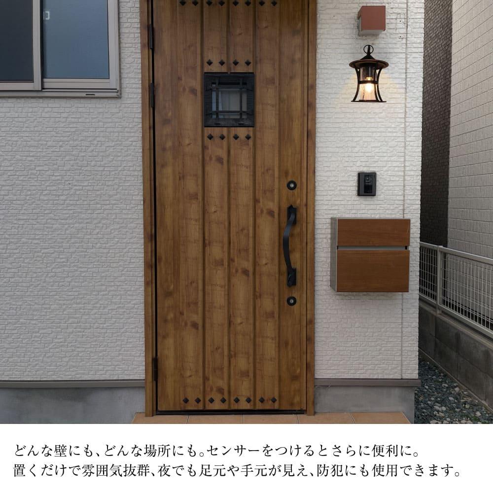 気泡ガラスのモダンランタン防水ポーチライト WP007-BLACK
