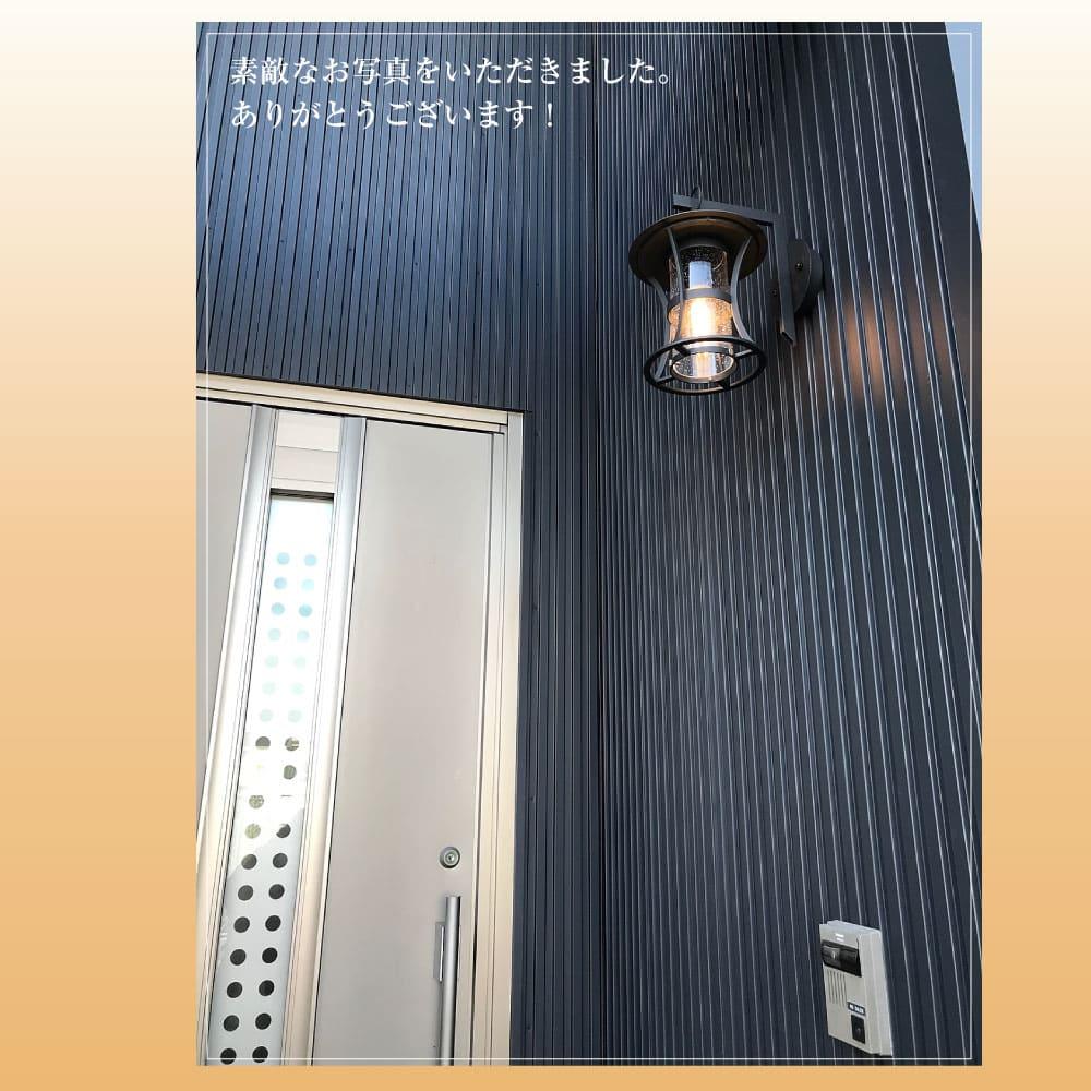 気泡ガラスのモダンランタン防水ポーチライト|WP007-BLACK