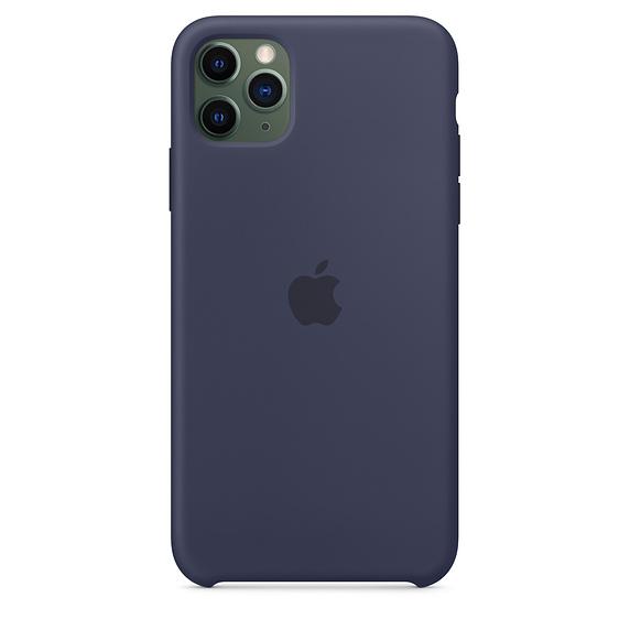 APPLE(アップル)<br>iPhone 11 Pro Max MWYW2ZM/A シリコーンケース ミッドナイトブルー Apple純正品