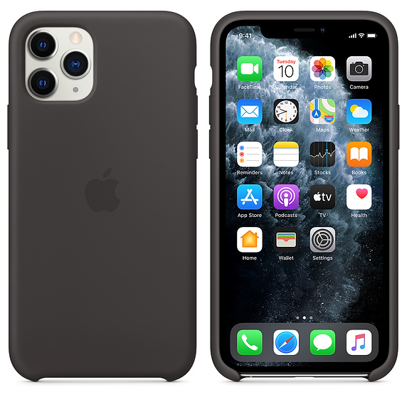 APPLE(アップル)<br>iPhone 11 Pro Max MX002ZM/A シリコーンケース ブラック Apple純正品