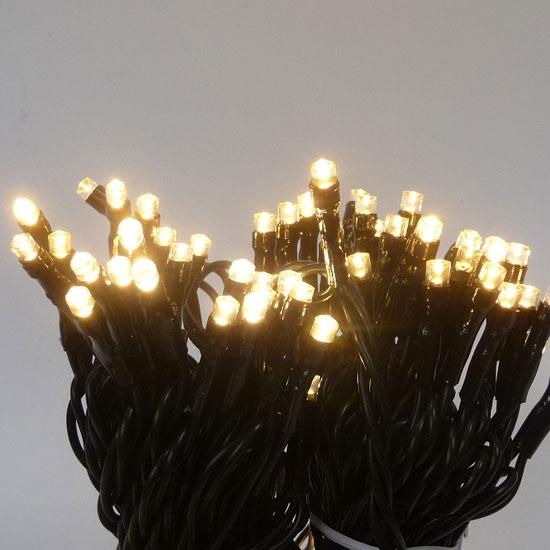 SDK 工事業者専用LED100球ライト 太コード 常点灯 深緑コード レモンゴールド球 5本セット