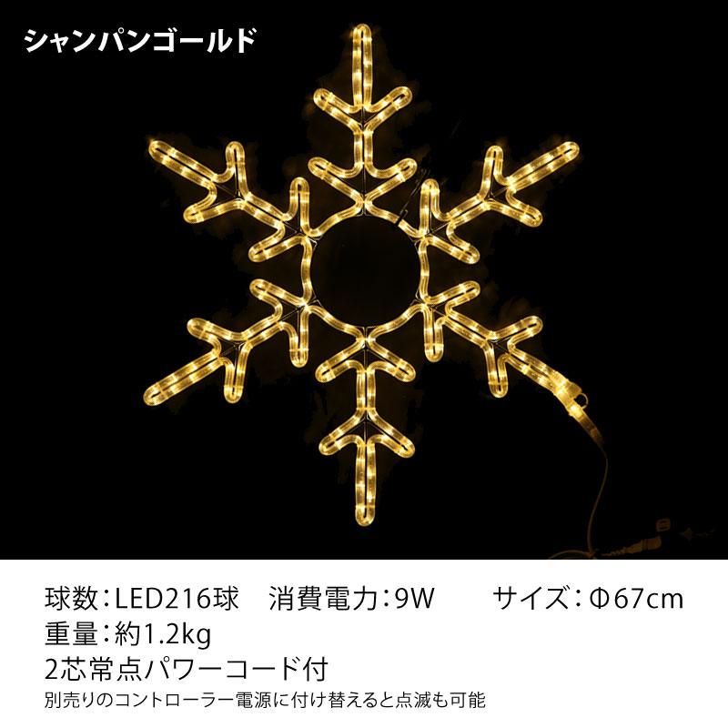 【メーカー直送・代金引換不可】RLプロフェッショナルLED 2芯 BIGロープライトスノーフレーク1