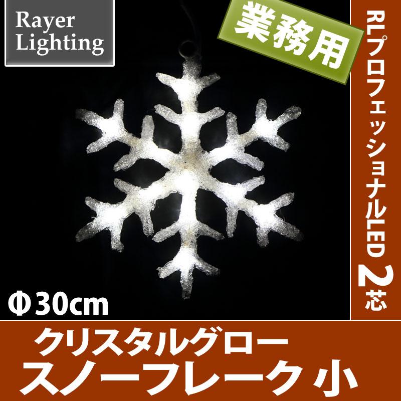 RLプロフェッショナルLED 2芯 クリスタルグロー スノーフレーク 小型 ホワイト色