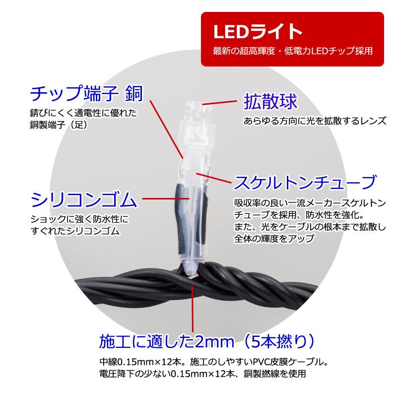 マテリアル3芯100球LEDストリングライト