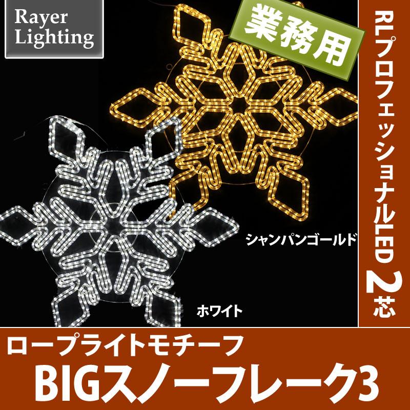 【メーカー直送・代金引換不可】RLプロフェッショナルLED 2芯 BIGロープライトスノーフレーク3