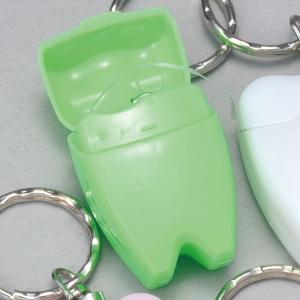 歯型デンタルフロス キーホルダー グリーン 1個【HLS_DU】【RCP】