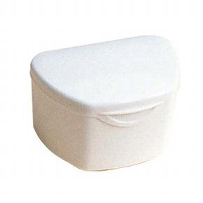 抗菌加工入れ歯ケース大 1個 ホワイト(国産)
