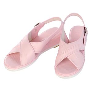 【送料無料】オフィスサンダル ナースサンダル(クロスサンダル)/LL(24.5−25.0cm)/ピンク