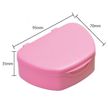 抗菌加工入れ歯ケース小 1個 ピンク(国産)