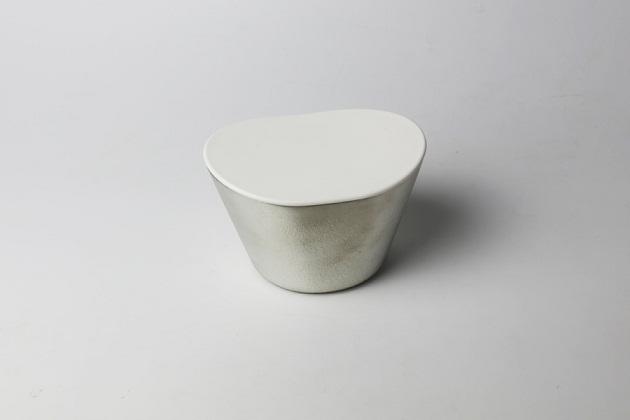 フィーユ 入れ歯ポット ホワイト/入れ歯 ケース[能作]