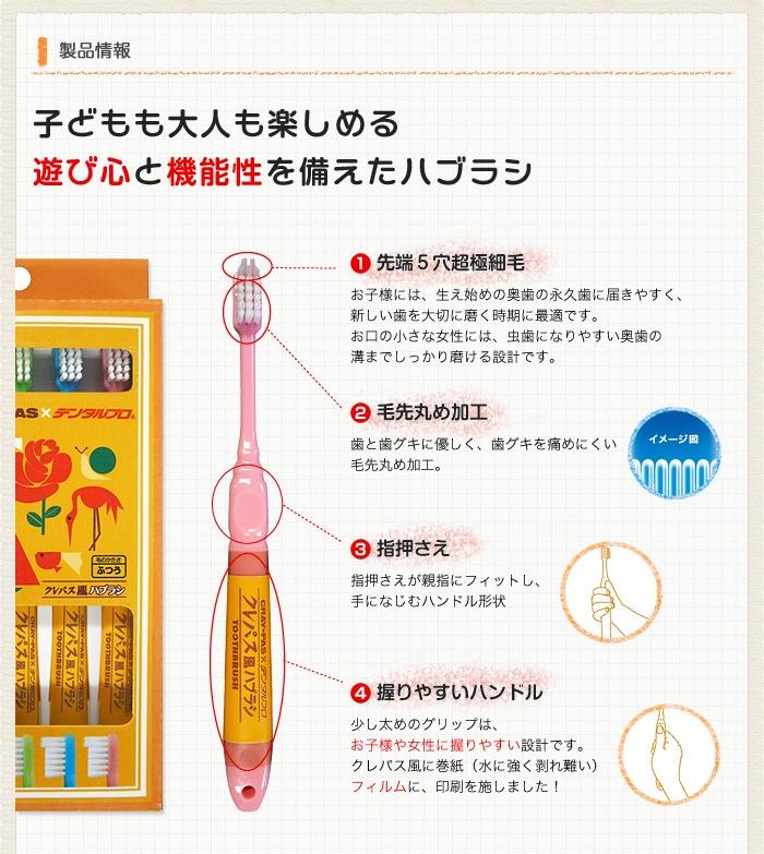クレパス風ハブラシ 一箱(5本セット)