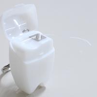 歯型デンタルフロス キーホルダー ホワイト 1個【HLS_DU】【RCP】