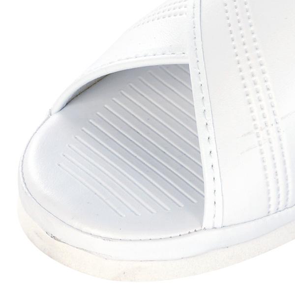 【送料無料】オフィスサンダル ナースサンダル 白 クロスサンダル S (21.5−22.0cm)