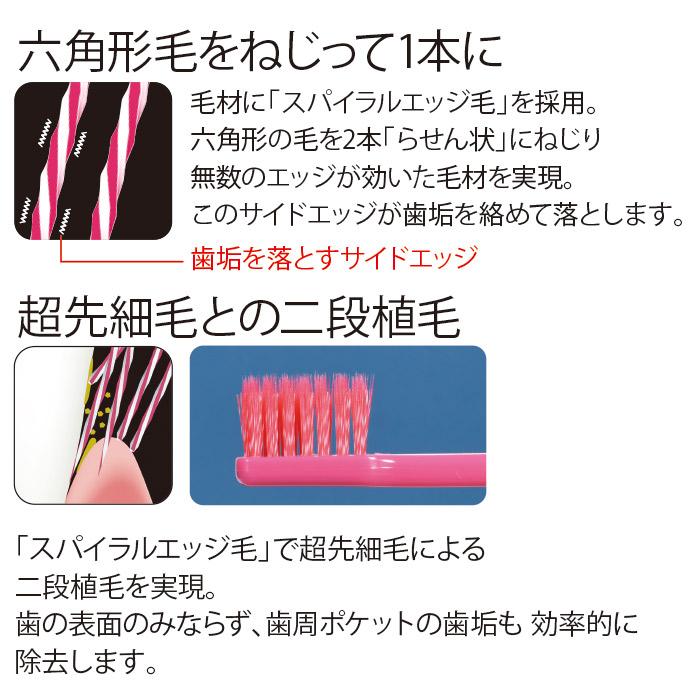 Ci PRO PLUS スパイラル/Mふつう/5本入【Ciメディカル 歯ブラシ】【MB】