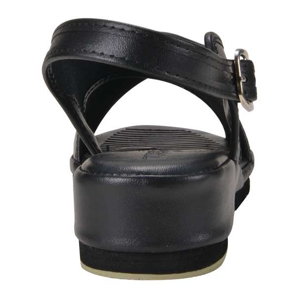 【送料無料】オフィスサンダル ナースサンダル 黒 クロスサンダル S (21.5-22.0cm)