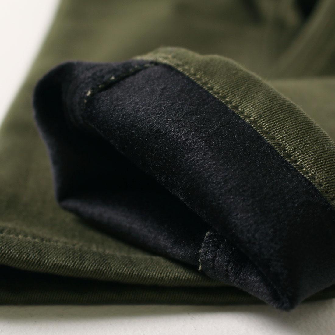 暖パン 極暖 ボンディングストレッチウォームサルエルパンツ(150cm S M L)裏起毛 長ズボン メール便不可