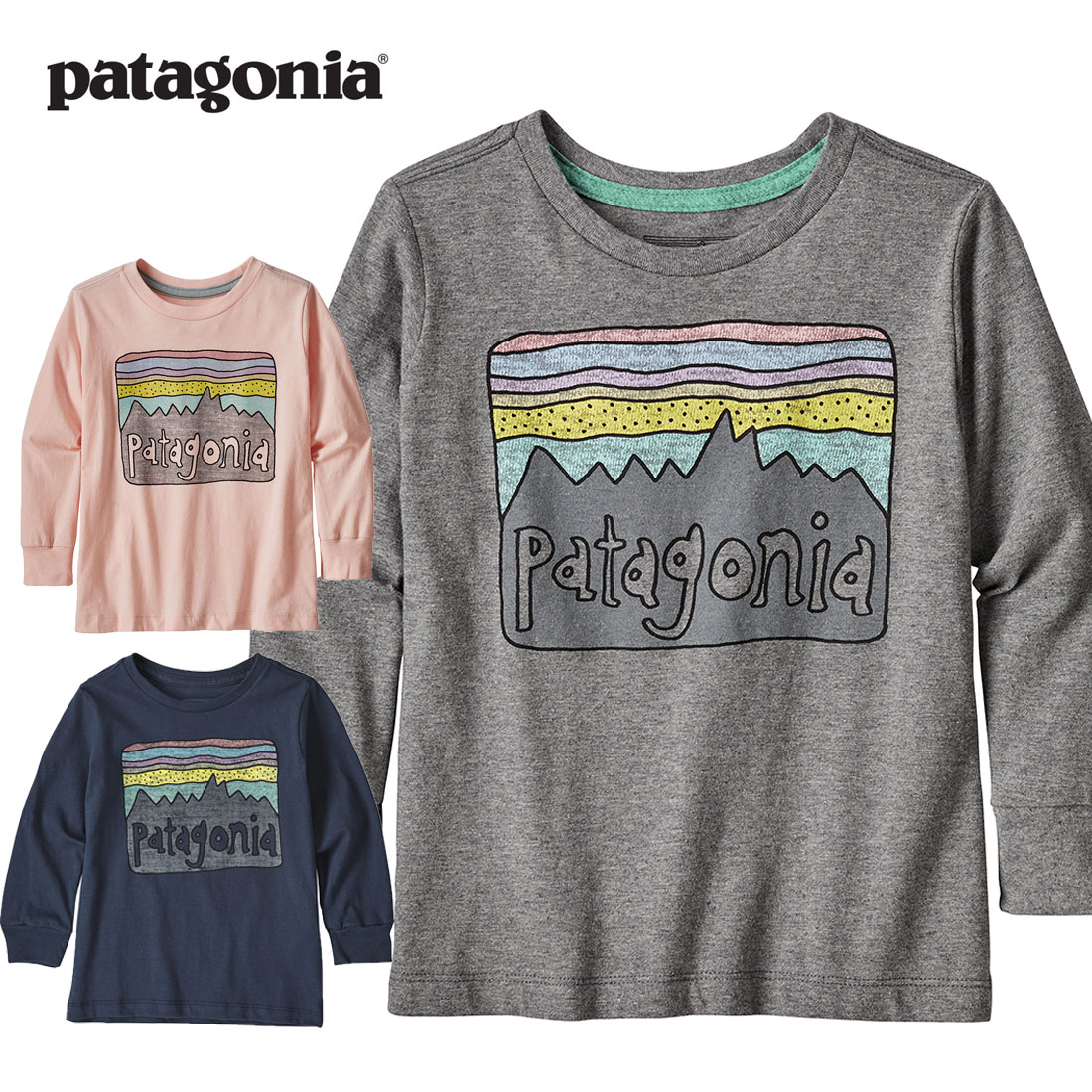 パタゴニア Patagonia Baby LT Grafhic Organic T-Shirt (6-12M/6-12ヶ月 12-18M/12-18ヶ月 2T/2歳 3T/3歳 4T/4歳 5T/5歳)【メール便可】
