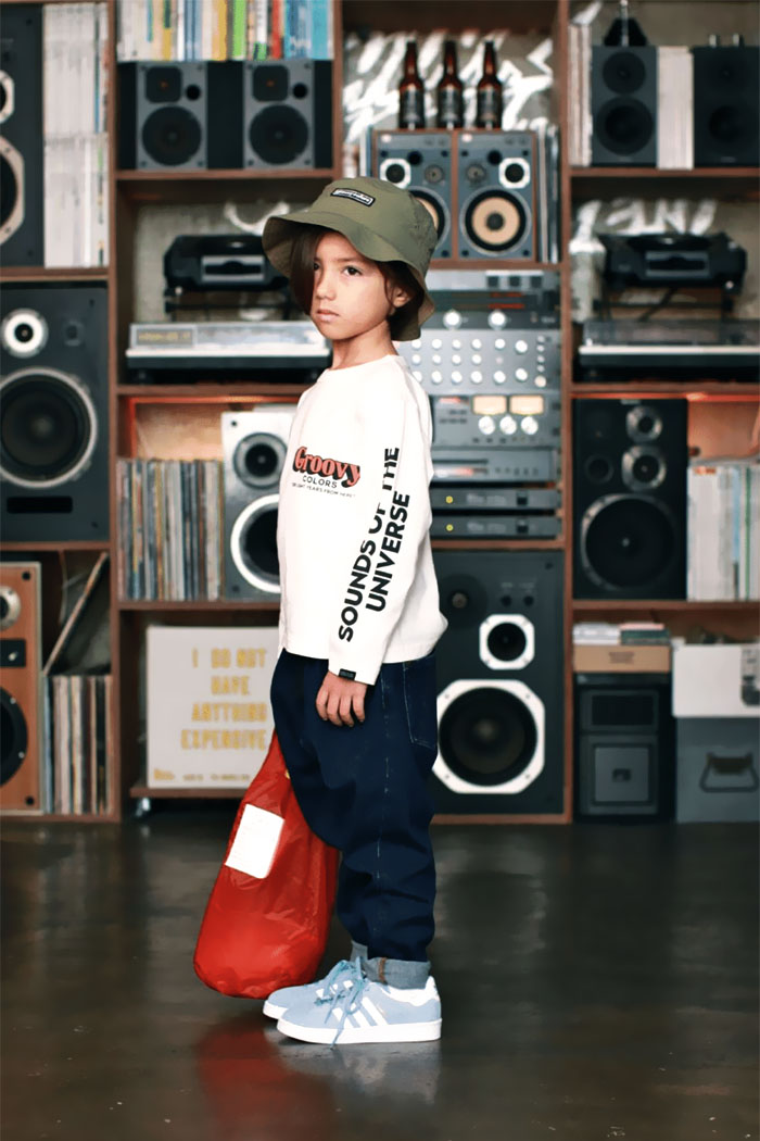 グルービーカラーズ GROOVY COLORS 【送料無料】 GROOVY COLORS BASIC L/S TEE(150cm 160cm)長袖 Tシャツ【メール便可】1612404