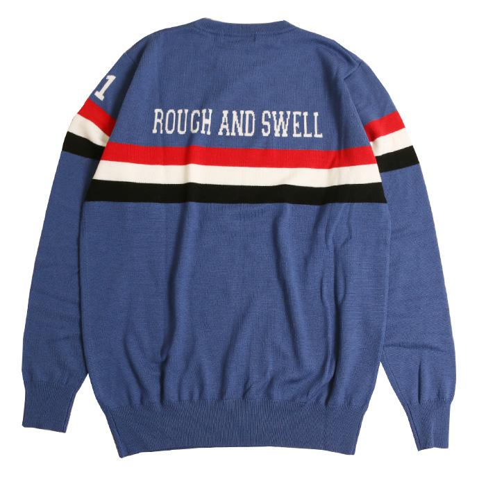 【送料無料】rough&swell ラフ&スウェル SAMPDORIA ニット(M) ダークブルー