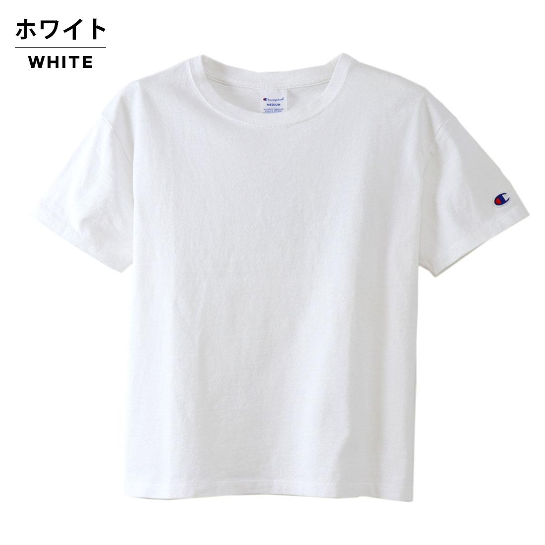 Champion チャンピオン レディース Tシャツ カットソー 無地 人気 シンプルWomens クルーネックTシャツ(M L)【メール便可】