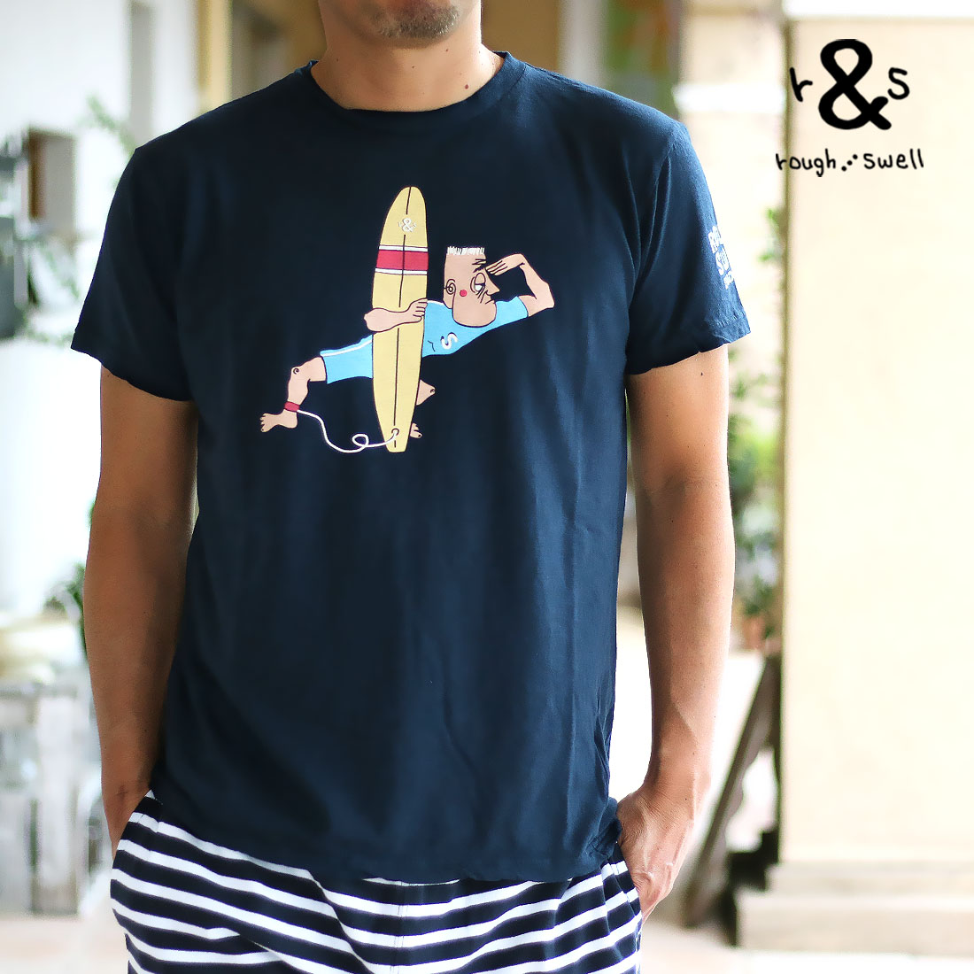 rough&swell ラフ&スウェル 【送料無料】 UNCLE SURF TEE(S M L XL)半袖Tシャツ メール便不可 RSM-19107