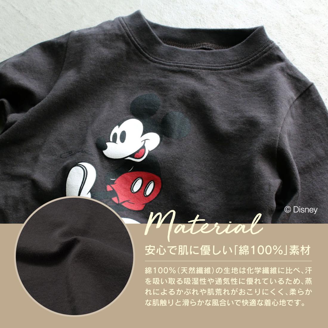 THE CLASSIC ミッキーマウスロンT(80cm 90cm 100cm 110cm 120cm 130cm 140cm 150cm) Disney 長袖Tシャツ 21SS【メール便可】