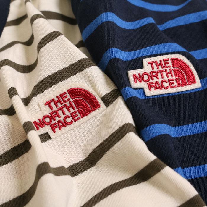 ノースフェイス THE NORTH FACE S/S Border Tee(120cm)ボーダーTシャツ NTJ31832 メール便可